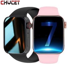 Chiccet 2021 Smartwatch uomo donna monitoraggio della pressione sanguigna Fitness Tracker Smart Watch serie 7 BT orologio da chiamata per Android IOS PK IWO 13 Pro