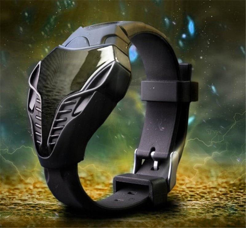 Часы наручные мужские/женские с силиконовым ремешком, модные электронные цифровые спортивные, в стиле Кобра, Хищник