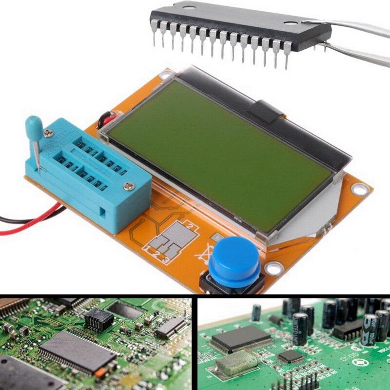 Compteur multifonction Kit de bricolage NPN PNP Diodes Triode condensateur SCR MOSFET Inductance résistance Inductance LCD testeur daffichage