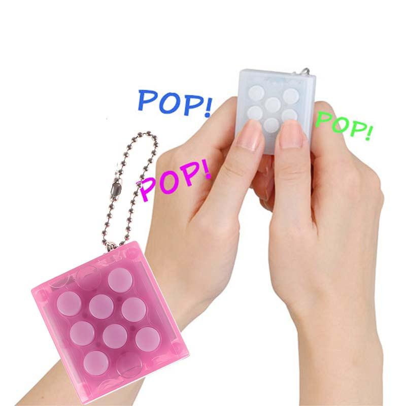 Child Mini Bubble Sound Toy Endless Pop Pop Infinite Bubble Wrap Relieve Stress Key Chain Toys enlarge