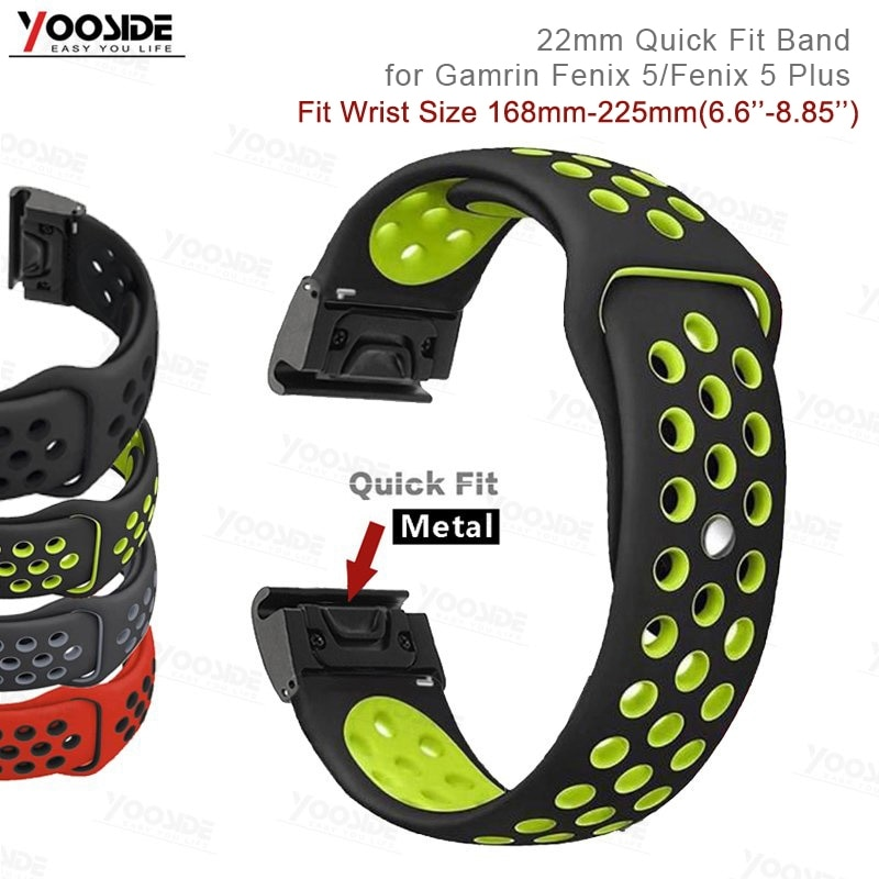 22mm Fenix 6 Quick Fit Sport Silicone Wristband for Garmin Fenix 5/5 Plus/Forerunner 935/Instinct/Quatix 5 Watch Band Strap