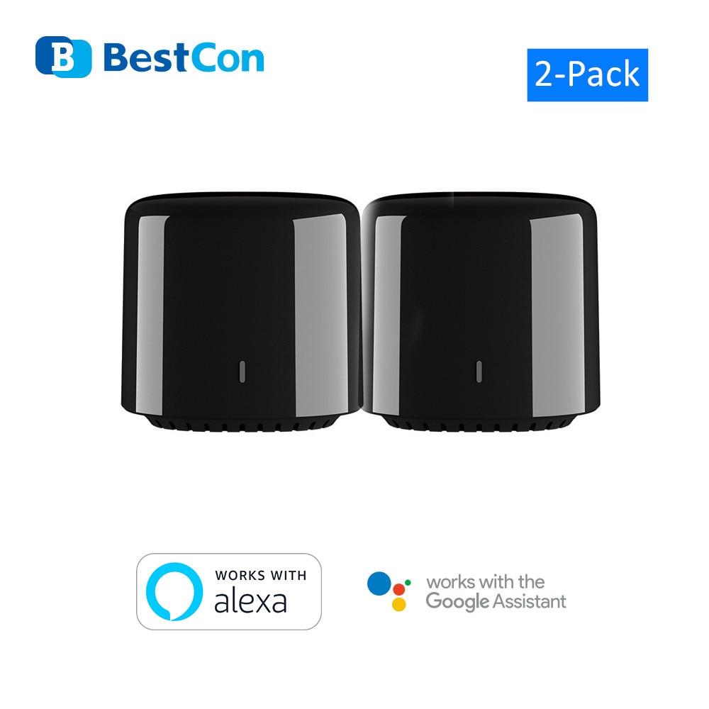 2 Broadlink RM4C Mini Bestcon Casa Inteligente interruptor WiFi IR de Casa Inteligente automatización Control de voz de Google Alexa Amazon