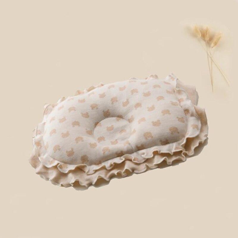 Crianças Almofada Proteção para a Cabeça de Animal Impresso Algodão Travesseiro Muslinlife rendas Travesseiro Crianças Recém-nascidas Travesseiros Sono Posicionador