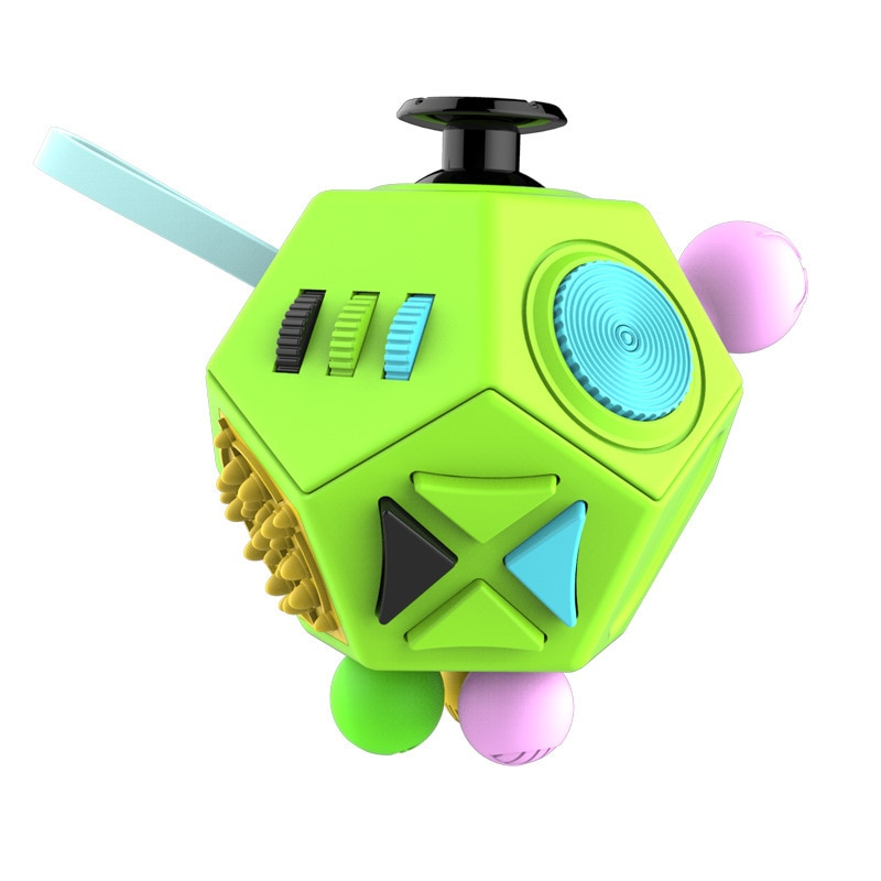 EDC Hand For Autism ADHD Anxiety Relief Focus Children 12 Sides Anti-Stress Magic Stress Fidget Toys enlarge