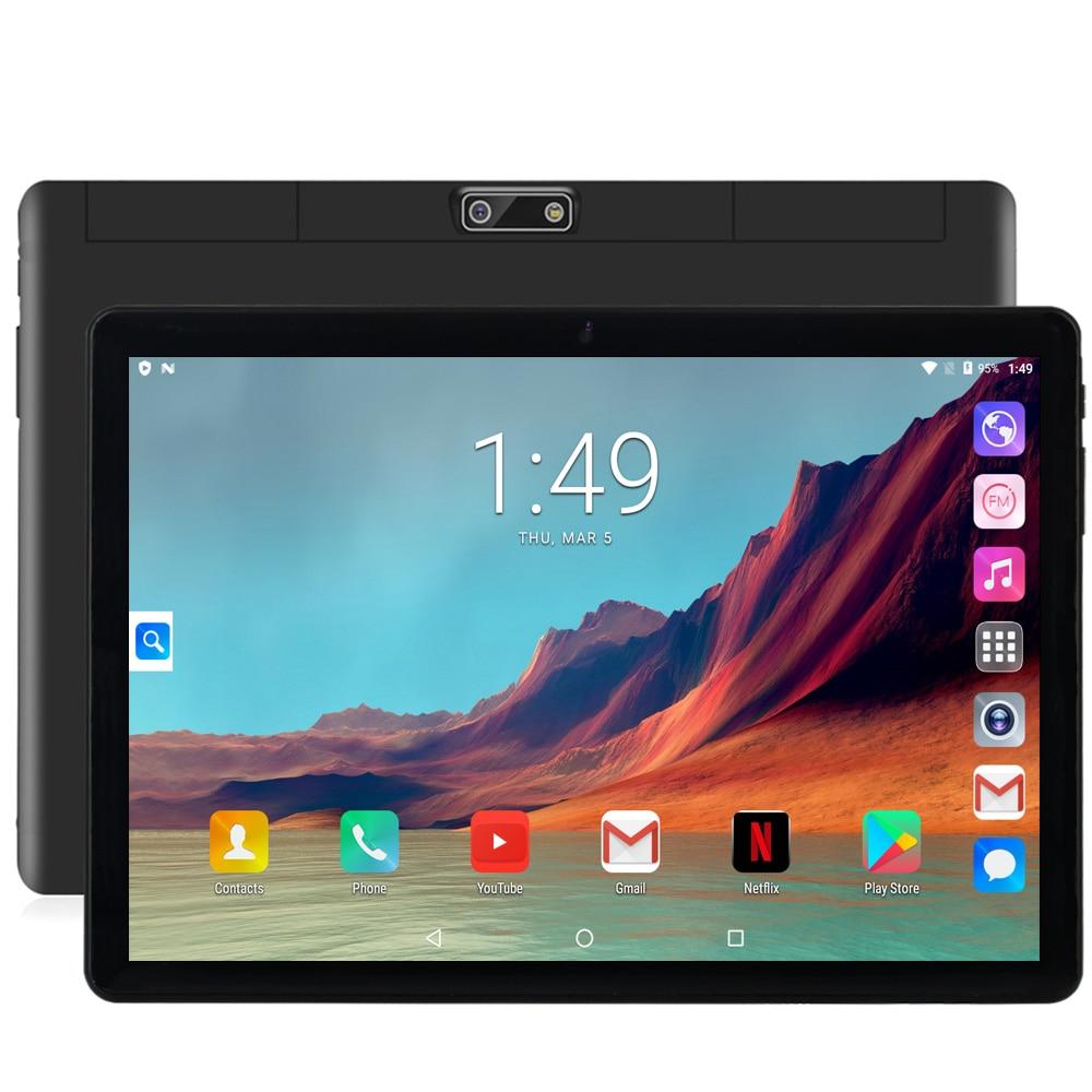 Neue Original 10,1 zoll Tablet Pc Google Android 7,0 Tabletten 3G Anruf WiFi GPS Bluetooth Dual SIM karten 2,5 D Glas Bildschirm