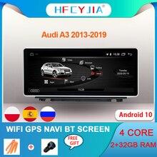 Автомобильная стерео система Android 10 для Audi A3 2013 2019 WIFI Google 2 + 32 Гб RAM BT IPS сенсорный экран GPS навигация радио плеер