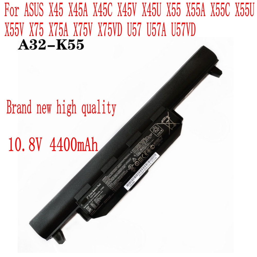 Brand new 4400mAh/47WH A32-K55 battery For ASUS X45 X45A X45C X45V X45U X55 X55A X55C X55U X55V X75