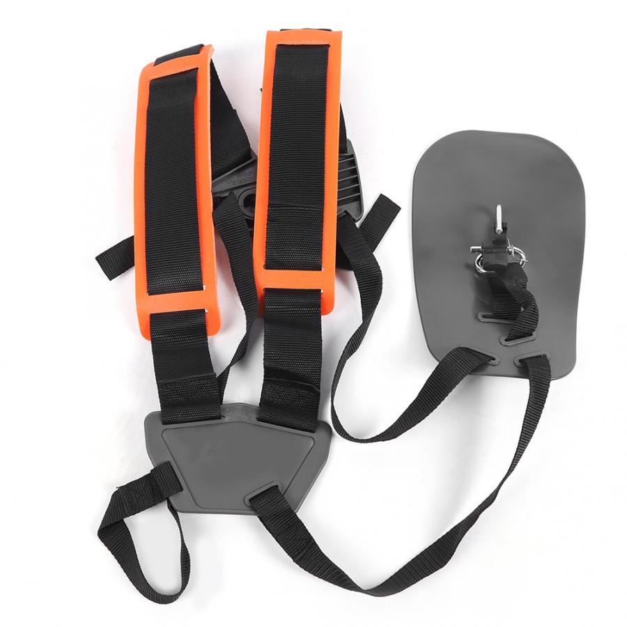 Recortador de jardín, correa de hombro doble, Panel de protección, recortador de jardín, cepillo, cortador, pelador, cinturón acolchado