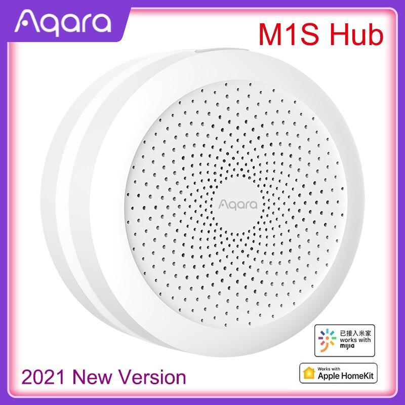 2021 Aqara M1S بوابة المحور مع RGB LED ضوء الليل زيجبي 3.0 APP التحكم عن بعد المنزل الذكي العمل مع Mijia APP أبل HomeKit