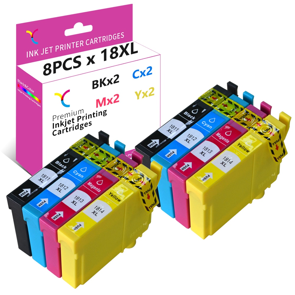 YC 18XL 18 XL Ink Cartridge Compatible for Epson XP225 XP202 XP325 XP215 XP425 XP312 XP402 XP405 XP30 XP212 XP415 XP102 XP322