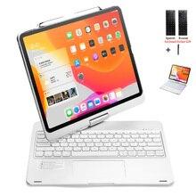 Drehen Tastatur Fundas Für iPad 12,9 inch 2020/2018 Touchpad Hintergrundbeleuchtung Drahtlose Bluetooth Tastatur Fall Abdeckung + Stylus