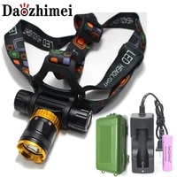 new 5000 lumens t6 diving head lamp waterproof headlight led lighting led headlamp torch118650 battery accharger