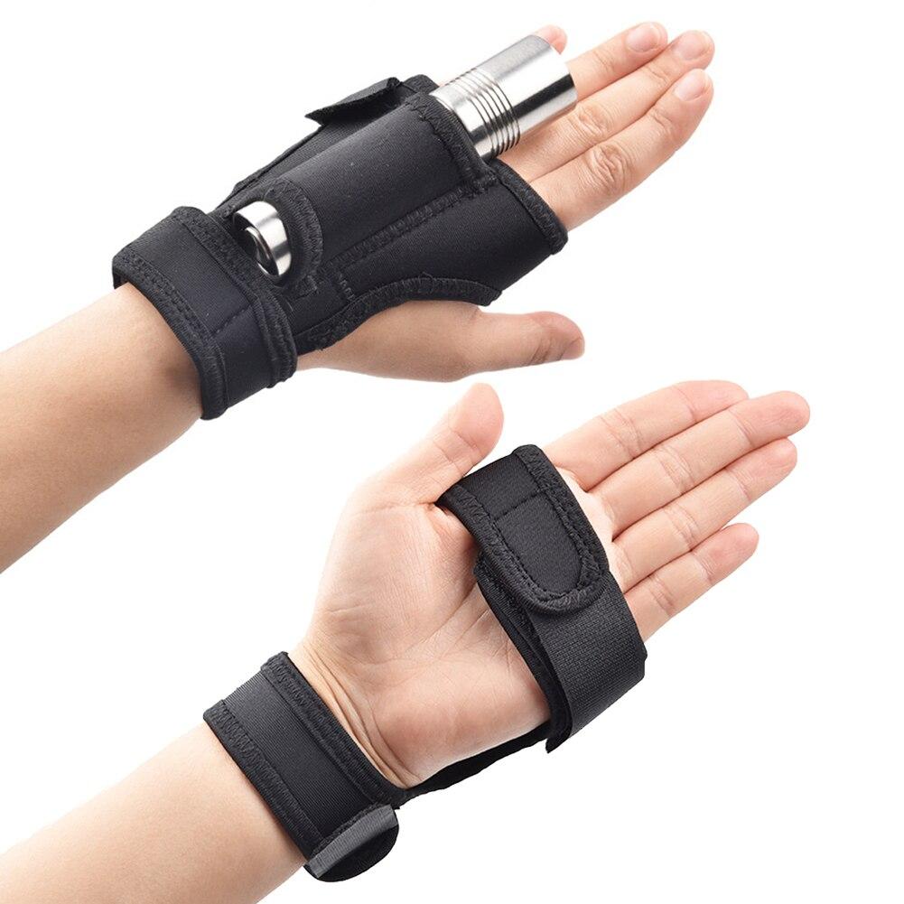 Linterna LED para buceo al aire libre, soporte para brazo de mano, correa para muñeca, guante, Manos libres, luz de relleno para buceo, accesorios para actividades de acampada