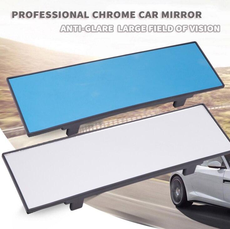 1 Uds Universal 290mm 330mm HD coche espejo retrovisor gran angular plano ancho Interior enganche retrovisor panorámico