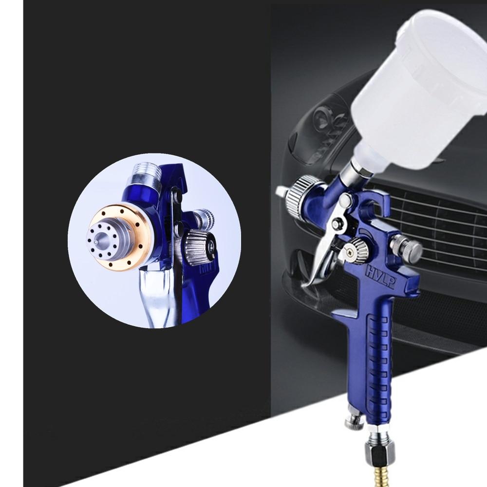0.8mm 1.0mm 1.4mm 1.7mm airbrush hvlp pistola de pulverizador de aço bico carros pintura móveis diy kit pintura carro ferramenta reparo automóvel