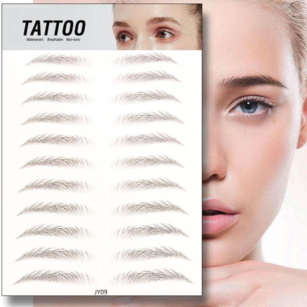 3D Eyebrow Tattoo Stickers Eyebrow Enhancers Eyebrow Styling Natural Makeup Waterproof Eyebrows Prod