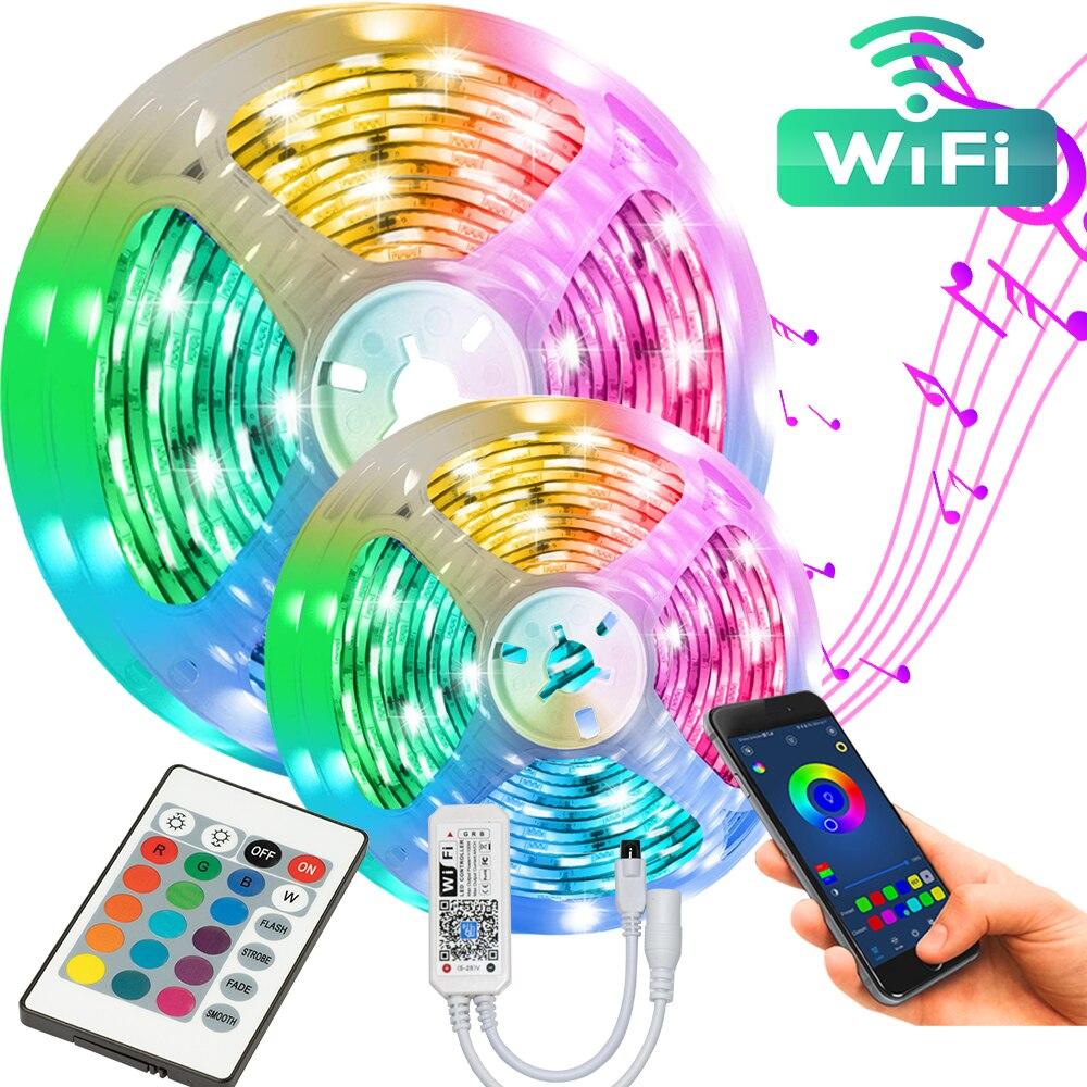 Akout-enchufe europeo de Control por WIFI, 16,4 pies, 5M, RGB 5050, fácil...