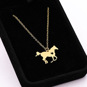 European And American Flying Horse Necklace Contracted Love Animal Pendant Neck Chain