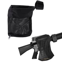 rifle bullet catcher recycling bag hunting tactical military army shooting bullet rifle mesh trap catcher around zipper bag