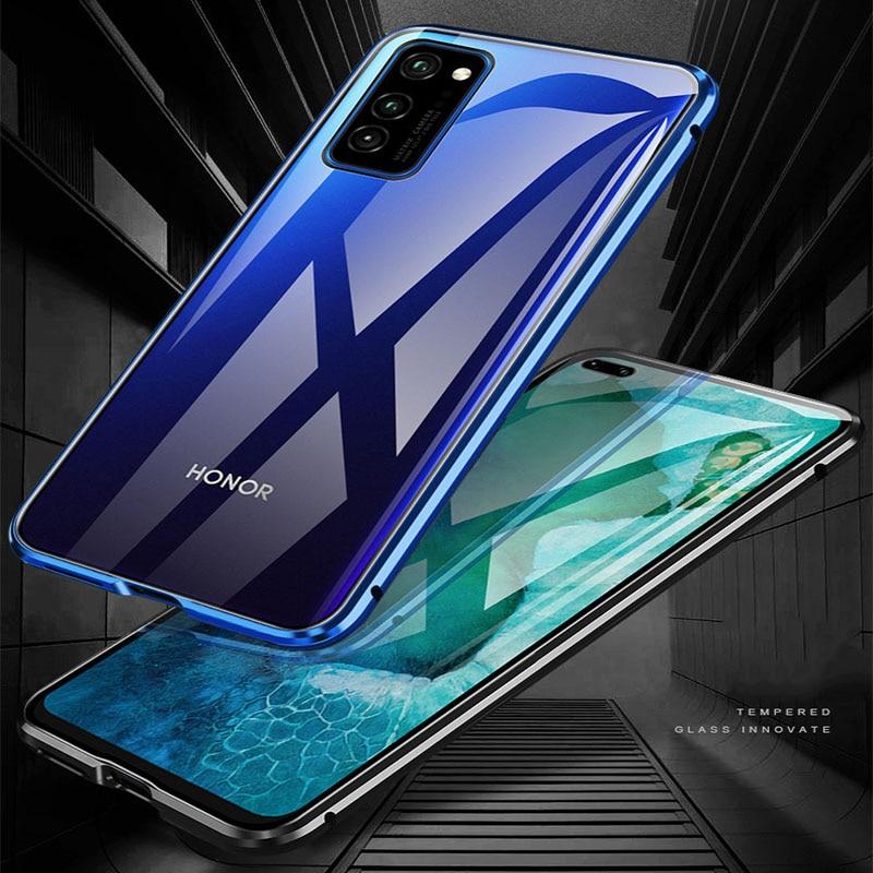 Металлический магнитный чехол для Honor 20 V30 Pro Honor 10 Lite, чехол для телефона Huawei Mate 20 30 Pro Mate 20X4G 5G, чехол