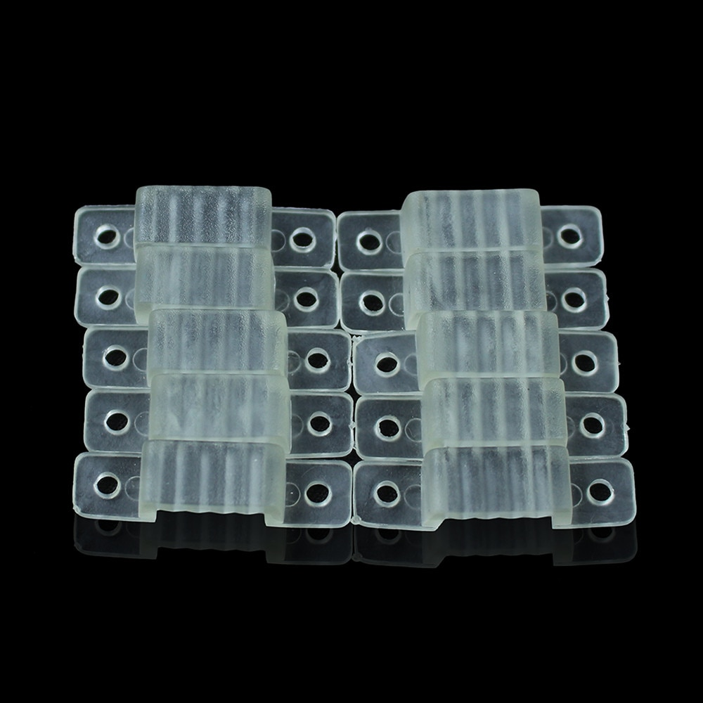 50 Pcs/lot 10mm LED Fixing Silicon Mounting Clips For 220V 5050 2835 waterproof LED Strip Light Connector For 220V LED Tape