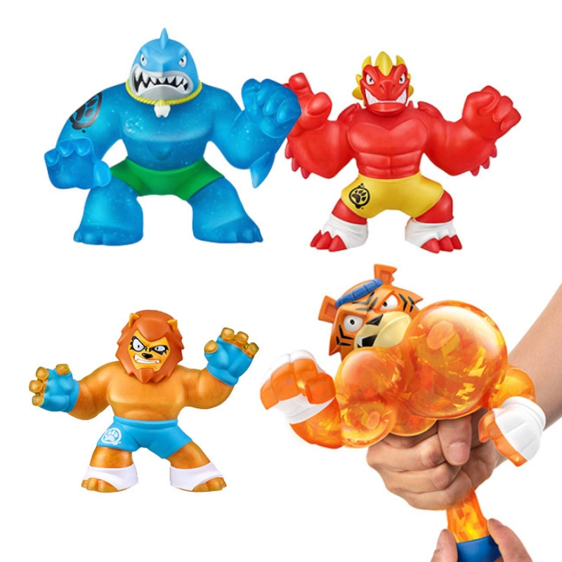 Super Heroes Go Ji Games Z Action Figures Super Elastic Animal Wolf Doll Rubber Man Squeeze Decompression Vent Toy For Kids Gift enlarge