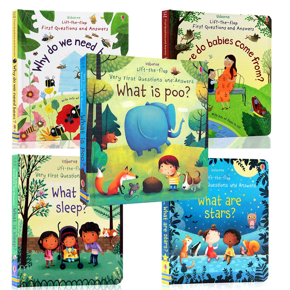 Фото - 3D Usborne Lift The Flap Very First Questions and Answers What Is Poo Flip Picture Board Book Kids Children Early Education what goes zoom board book