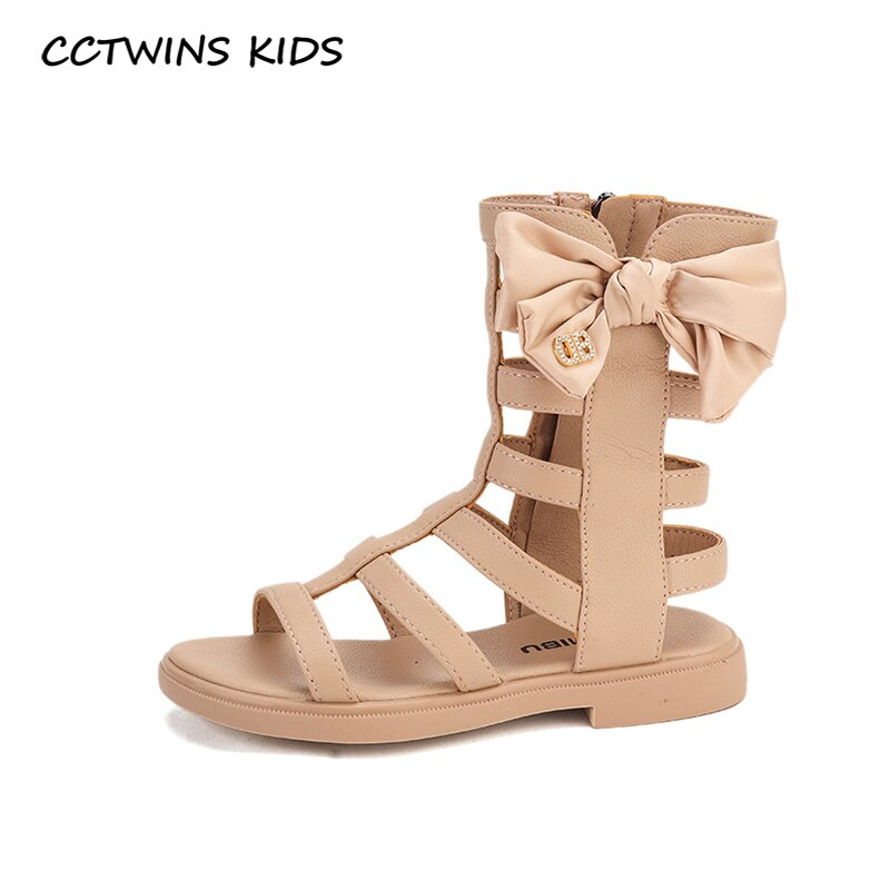 CCTWINS Kids Shoes 2020 Summer Children Fashion Black Gladiator Sandals Baby Brand Soft Shoes Girls Butterfly Flat BG186