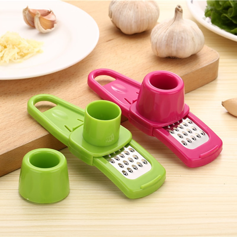 Pelador de silicona mágico de Color caramelo cortador de ajo de jengibre plástico rallador cepillador herramienta de cocina accesorios de cocina