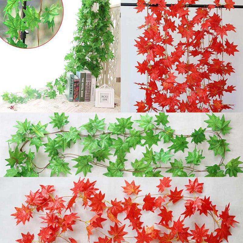 Искусственная зелень поддельные Сваг из лозы растения раттеновые листья для