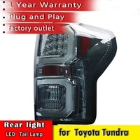 car styling for toyota tundra taillights 2007 2013 led tundra taillight back lights smoke black color new