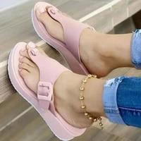women sandals new wedge heels women summer shoes platform wedges shoes for women flip flop soft slipper female pu korean version