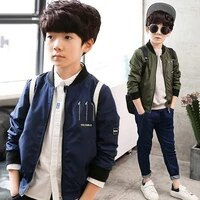 2021 spring autumn baby boy coat bomber jacket windbreaker children outerwear clothing casual kids jackets 3 4 6 7 9 10 12 years