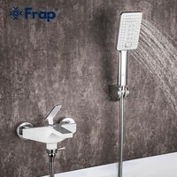 frap white bathroom shower faucet waterfall bathtub faucet wall mounted cold and hot water mixer tap f3258