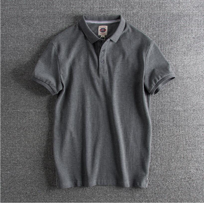 2019 جديد ملابس الرجال قميص بولو s رجال الأعمال عادية الصلبة الذكور قميص بولو قصيرة الأكمام تنفس قميص بولو s الرجال