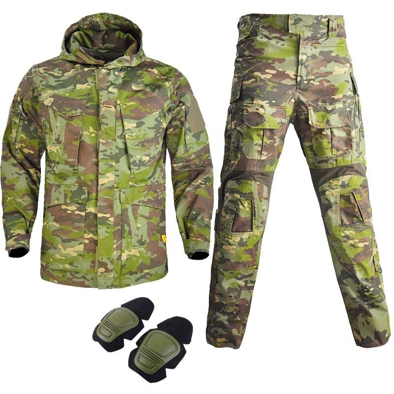 Мужская повседневная куртка с капюшоном, черная хлопковая куртка-карго в стиле милитари, воздухопроницаемая ветровка, парка, штаны, м65, зима...