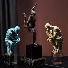 Nordic Atlas obraz z postaciami rzeźbione dekoracyjne mit postać figurka statua kreatywne figurki z żywicy dekoracje domu R4471