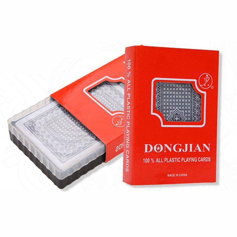 Quality Waterproof PVC Plastic Playing Cards With Plastic Box 54pcs Deck Poker Classic Magic Tricks