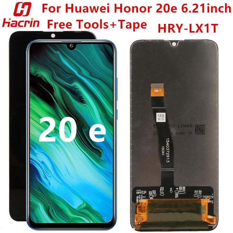 لهواوي الشرف 20e HRY-LX1T LCD عرض + شاشة تعمل باللمس استبدال مع الإطار لا الميت بكسل اختبار الشاشة لهواوي الشرف 20 e