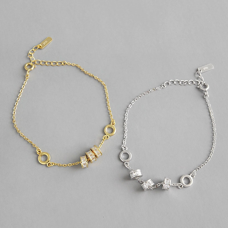 Pulseiras das mulheres de prata genuína 925 sterling sport minimalista pulseiras pulseira en argent 925 vrai pour femme jóias finas