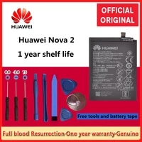 huawei 100 original for huawei nova 2 replacement phone battery hb366179ecw caz al10 caz tl00 real capacity batteria 2950mah