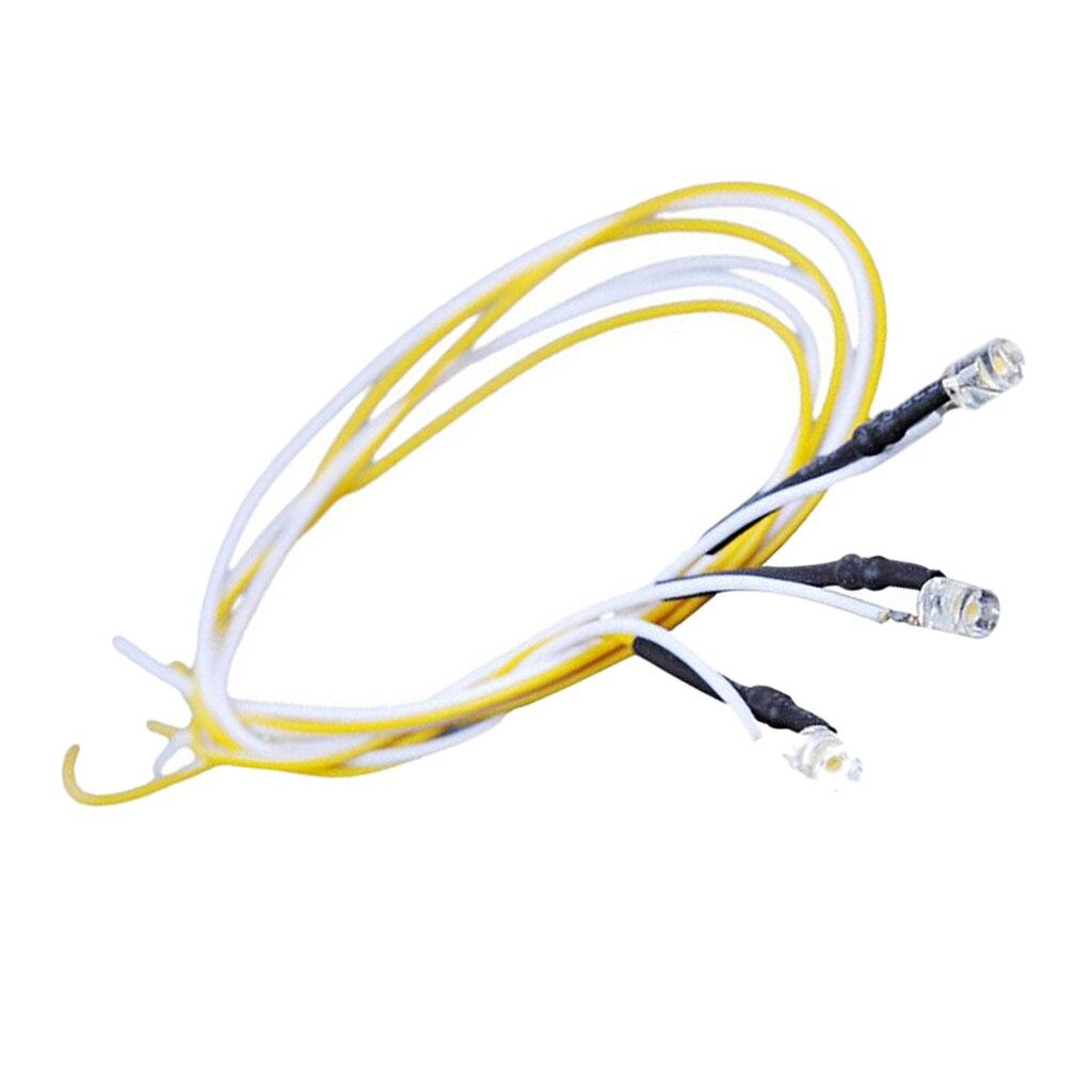 Cable de luz LED 5x, iluminación fría para mesa de arena a escala 1/35