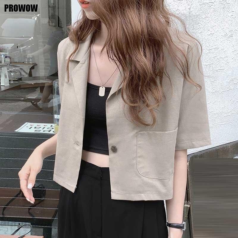 New 2021 Women Cotton Linen Coat Top Korean Fashion Vintage Summer Cardigan Jackets One-Piece Lady Elegant Office Suit Coats