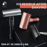 safety razor for men reusable double edge razor classic metal manual shaving razor
