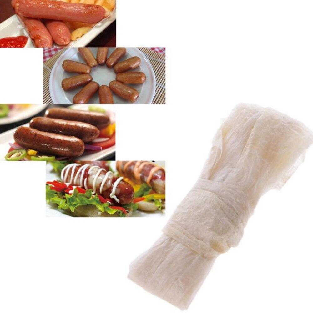Wurst Gehäuse 2,5 Meter Food Grade Dry Schafe Gehäuse Wurst Salami DIY Durchmesser 28-30mm Shell Für Heiße hund Wurst Stuffer