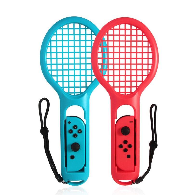 1 par para interruptor Nintend Joy-con ABS soporte de raqueta de tenis para Nitendo interruptor NS juego de tenis ACES juego Accesorios