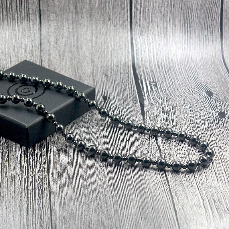 Магнитный гематитовый камень, 8 мм, круглые бусины, ожерелье из бисера, лечебная терапия, черные ювелирные изделия для мужчин и женщин HN023