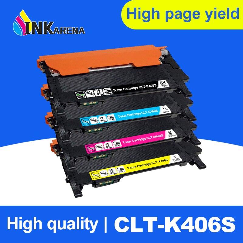 INKARENA Compatible 406s k406s CLT-406S CLT-K406S C406S Y406S Toner Cartridge For Samsung CLP-360 365w 366W CLX-3305 C460FW