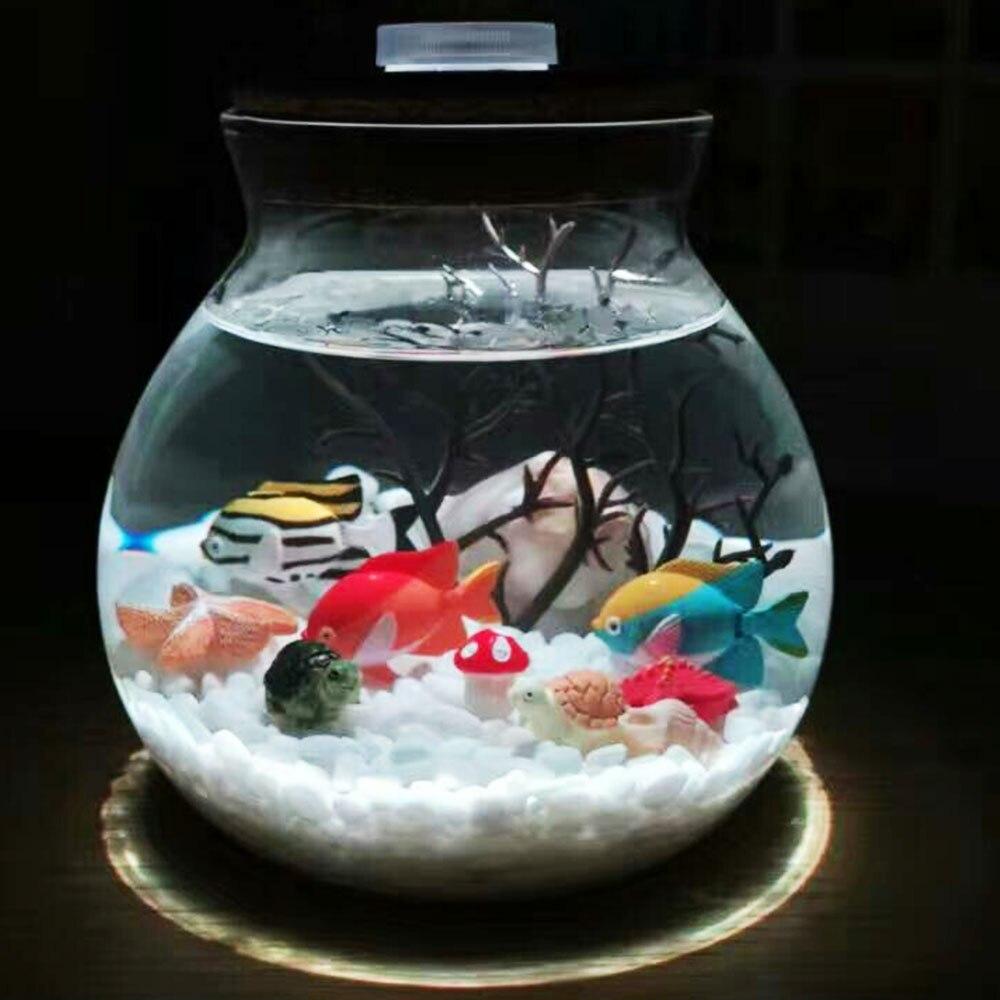 Светодиодсветодиодный террариумы Microlandscape 10 см, ночсветильник в виде бутылки желаний, Подарочная настольная лампа для аквариума Lumiparty