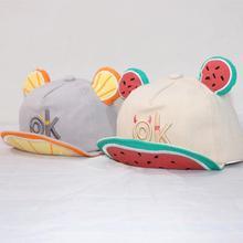 2020 New Cute Letter Embroidery Children's Baseball Cap Summer Hat Ears Lovely Boy Girl Kids Snapback Adjustable Hat